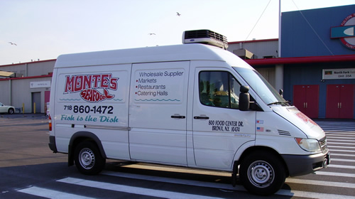 Montes has a fleet of trucks delivers to catering halls